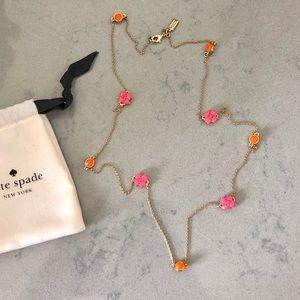 Kate spade Gold Floral Scatter Necklace Pink